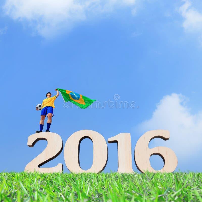 Άτομο ποδοσφαιριστών της Βραζιλίας στοκ φωτογραφίες με δικαίωμα ελεύθερης χρήσης