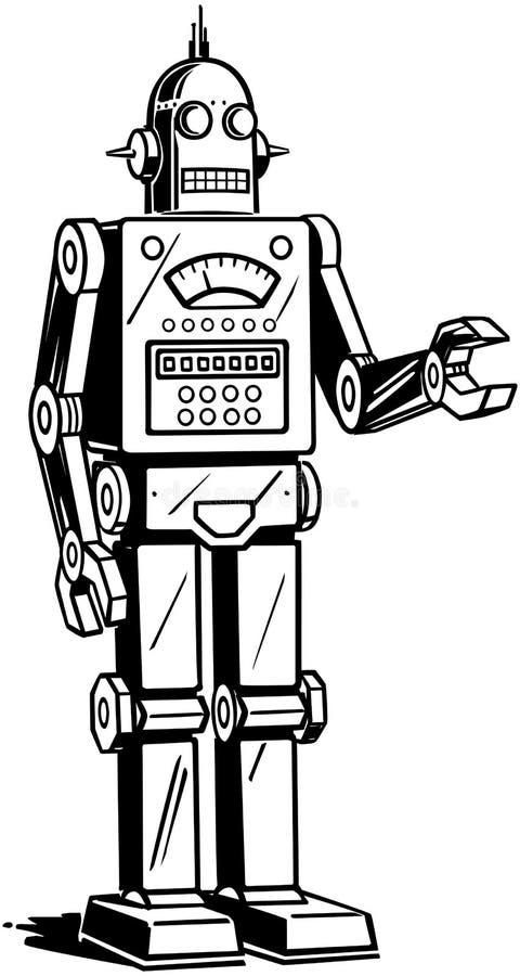 Άτομο ρομπότ απεικόνιση αποθεμάτων