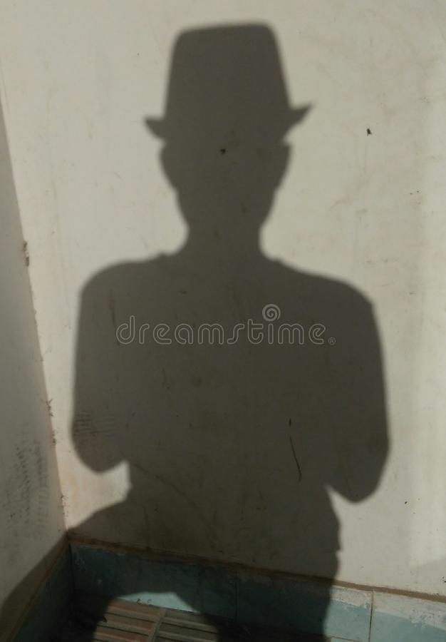 Άτομο σκιών στοκ εικόνα
