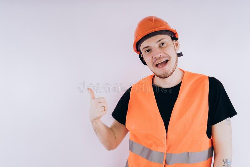 Άτομο στην εργασία ομοιόμορφη στο άσπρο υπόβαθρο στοκ εικόνες με δικαίωμα ελεύθερης χρήσης