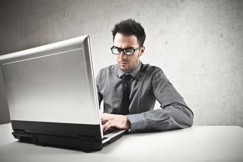 Άτομο στην εργασία στοκ εικόνες