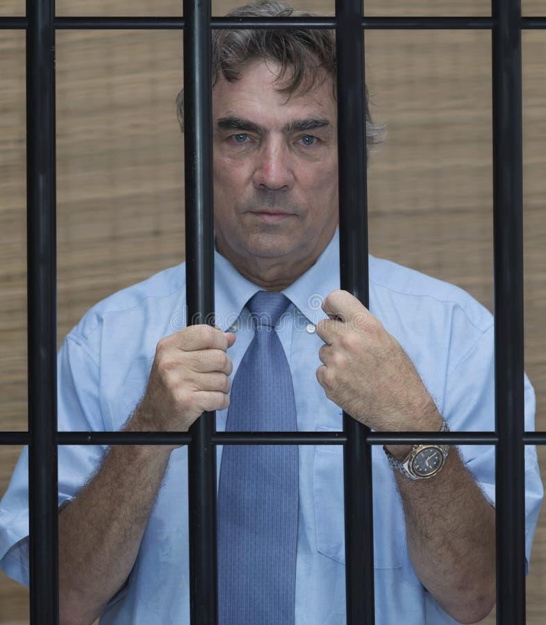 Άτομο στη φυλακή στοκ φωτογραφίες με δικαίωμα ελεύθερης χρήσης