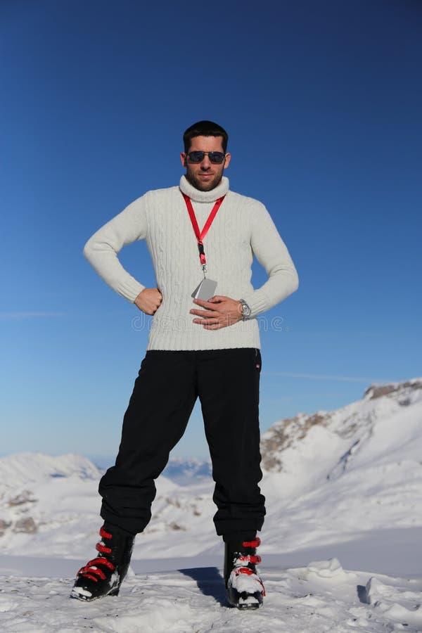 Άτομο στις Άλπεις στοκ εικόνες με δικαίωμα ελεύθερης χρήσης