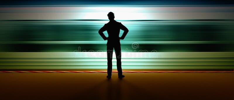 Άτομο στον υπόγειο διανυσματική απεικόνιση