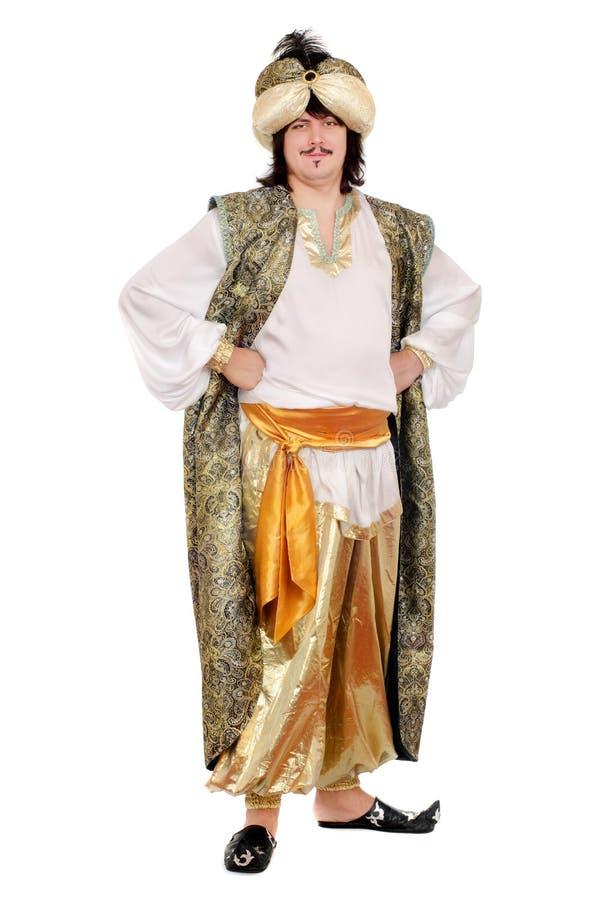 Άτομο στο ασιατικό κοστούμι στοκ εικόνες