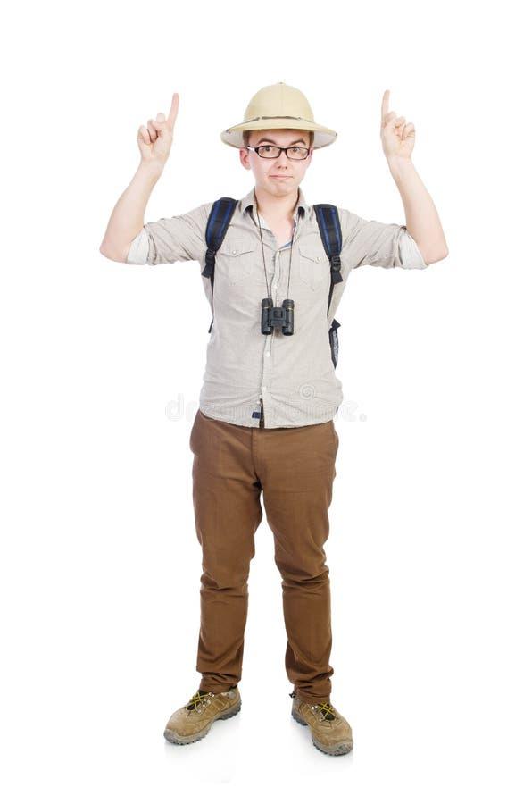Άτομο στο καπέλο σαφάρι στοκ φωτογραφίες με δικαίωμα ελεύθερης χρήσης