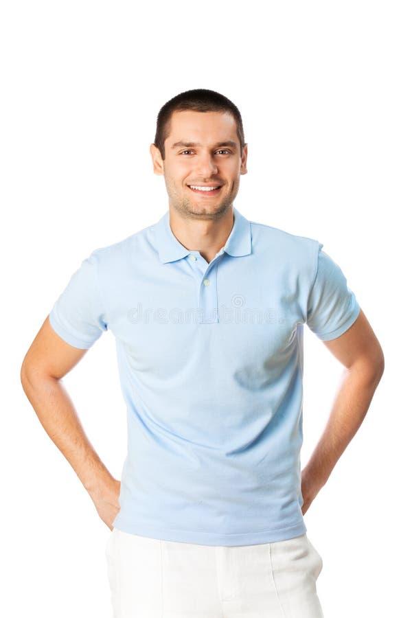 Άτομο στο λευκό στοκ εικόνες