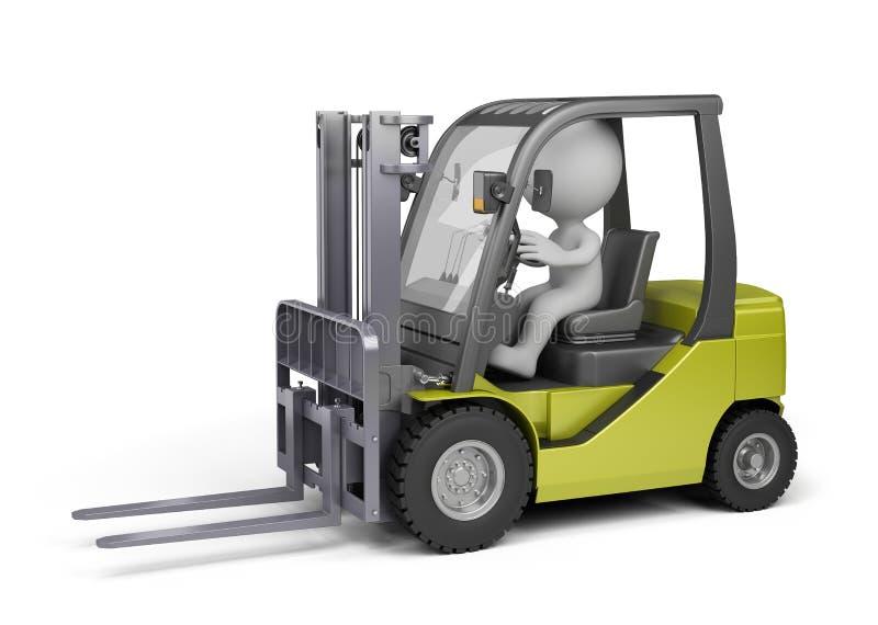 Άτομο στο forklift φορτηγό διανυσματική απεικόνιση
