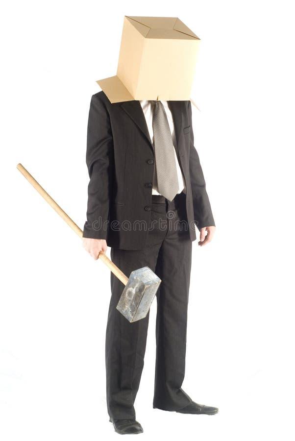 άτομο σφυριών στοκ φωτογραφία