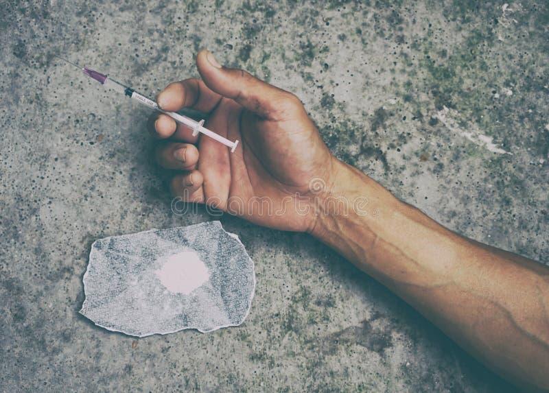 Άτομο τοξικομανών στοκ φωτογραφίες