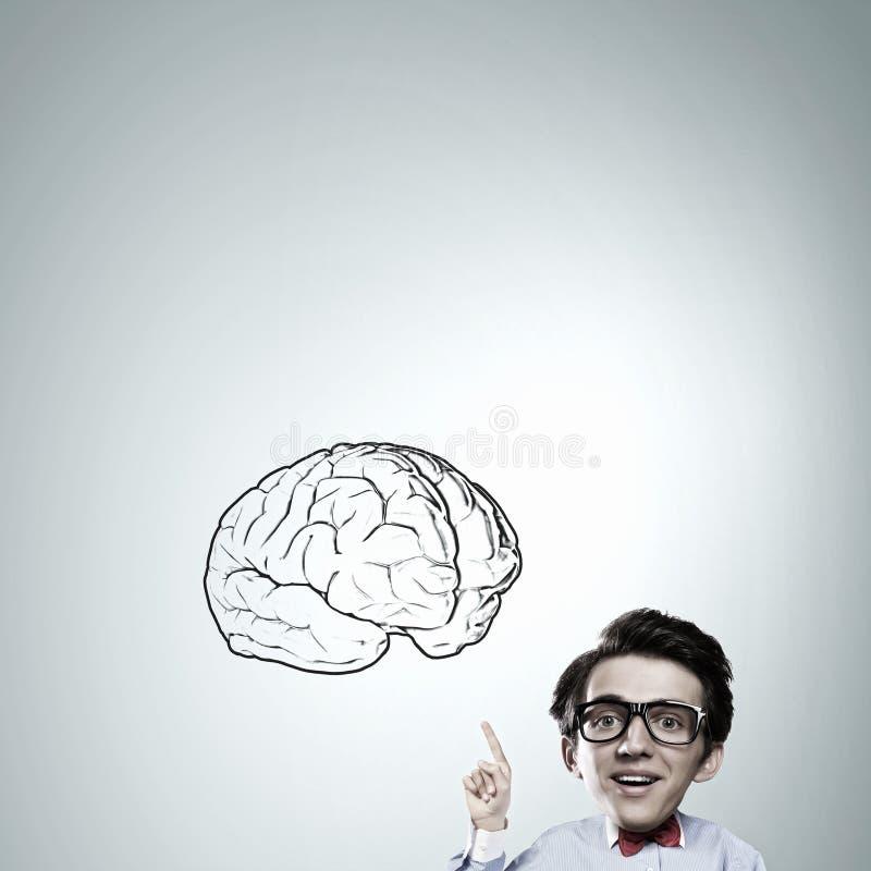Άτομο του μεγάλου μυαλού στοκ εικόνες με δικαίωμα ελεύθερης χρήσης