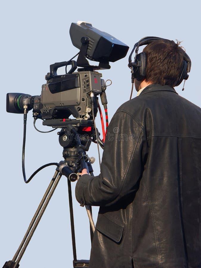 Download άτομο φωτογραφικών μηχανών στοκ εικόνα. εικόνα από συνέντευξη - 125143