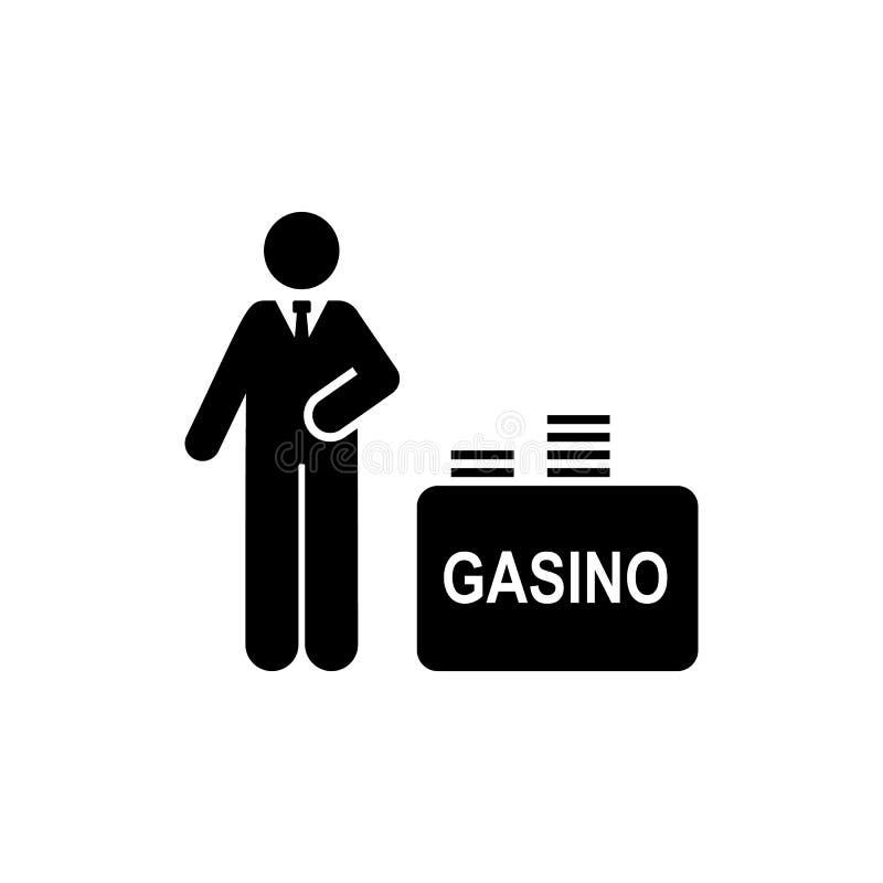 Άτομο, χαρτοπαικτική λέσχη, χρήματα, εικονίδιο ξενοδοχείων Στοιχείο του εικονιδίου εικονογραμμάτων ξενοδοχείων r o διανυσματική απεικόνιση