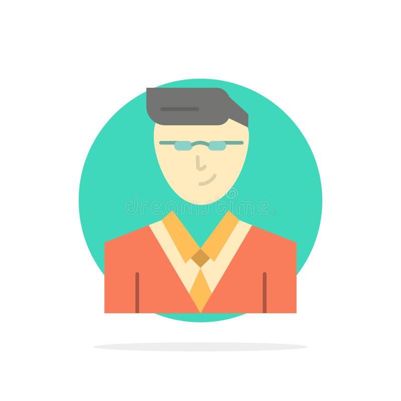 Άτομο, χρήστης, διευθυντής, σπουδαστών αφηρημένο κύκλων εικονίδιο χρώματος υποβάθρου επίπεδο διανυσματική απεικόνιση