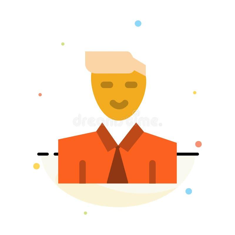 Άτομο, χρήστης, σπουδαστής, δάσκαλος, αφηρημένο επίπεδο πρότυπο εικονιδίων χρώματος ειδώλων διανυσματική απεικόνιση