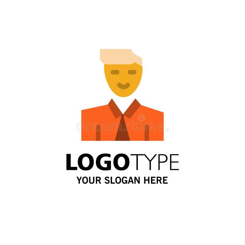 Άτομο, χρήστης, σπουδαστής, δάσκαλος, πρότυπο επιχειρησιακών λογότυπων ειδώλων Επίπεδο χρώμα διανυσματική απεικόνιση