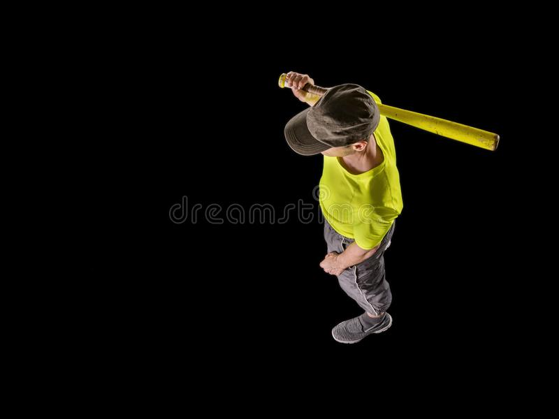 Άτομο, 48 χρονών, παίζοντας μπέιζ-μπώλ στοκ φωτογραφία με δικαίωμα ελεύθερης χρήσης