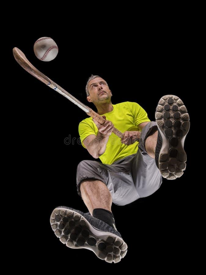 Άτομο, 48 χρονών, παίζοντας χόκεϋ στοκ εικόνες