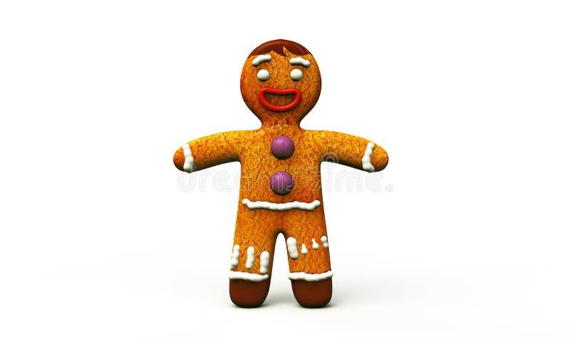 Άτομο ψωμιού πιπεροριζών ελεύθερη απεικόνιση δικαιώματος