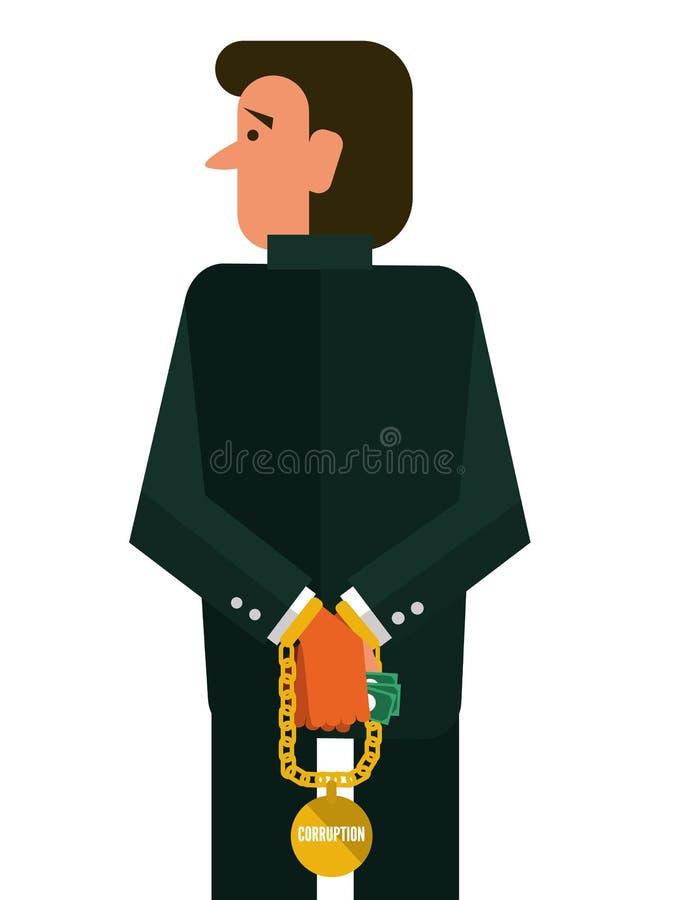 Άτομο δωροδοκίας ελεύθερη απεικόνιση δικαιώματος