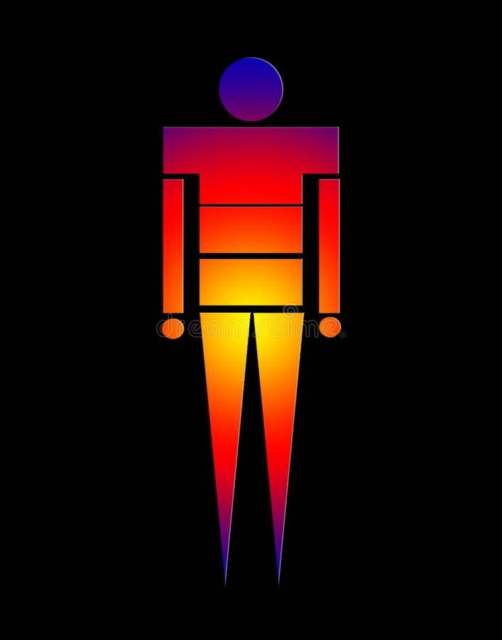 Άτομο 2 διανυσματική απεικόνιση