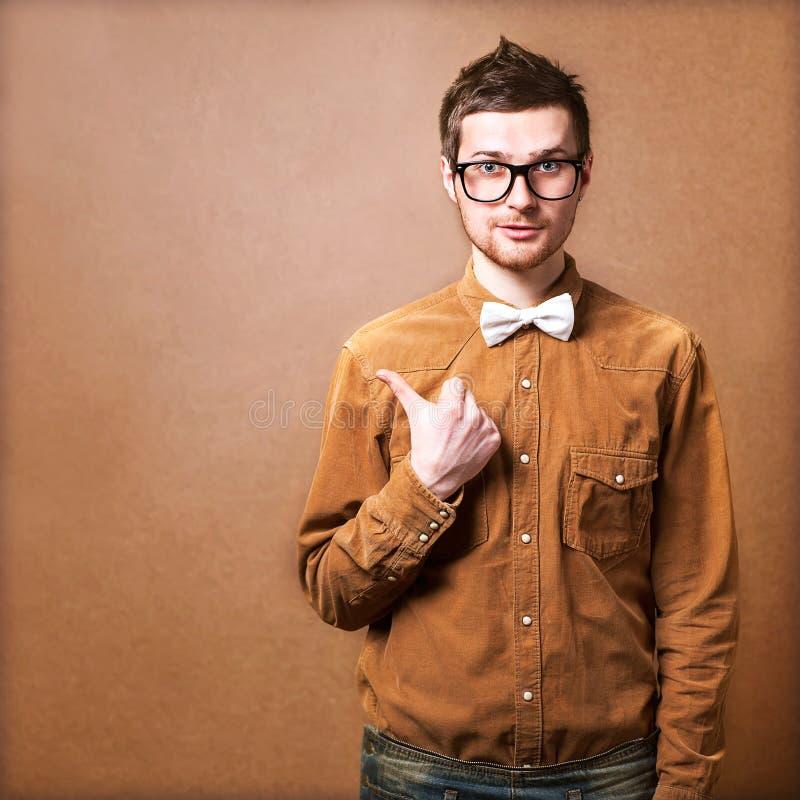 Άτομο Hipster στοκ εικόνες με δικαίωμα ελεύθερης χρήσης