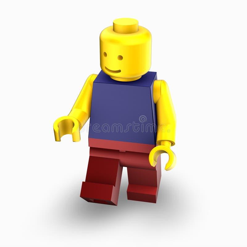 άτομο lego διανυσματική απεικόνιση