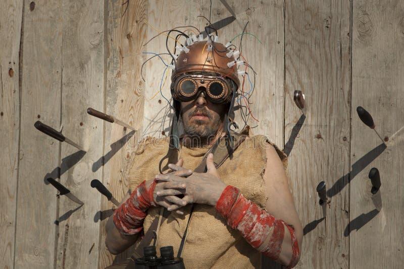 Άτομο Steampunk που φορά τα γυαλιά στοκ εικόνες