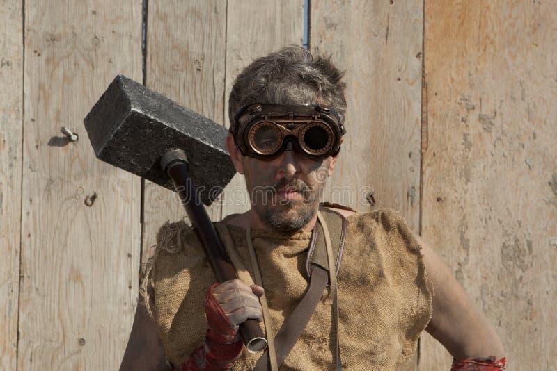 Άτομο Steampunk που φορά τα γυαλιά στοκ φωτογραφίες