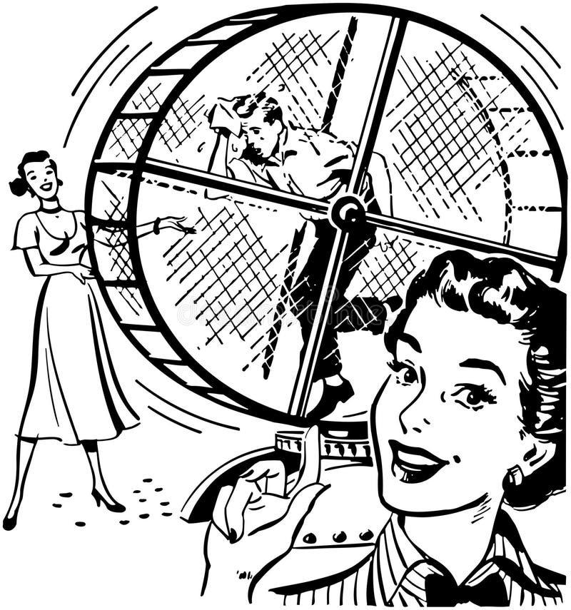 Άτομο Treadmill ελεύθερη απεικόνιση δικαιώματος