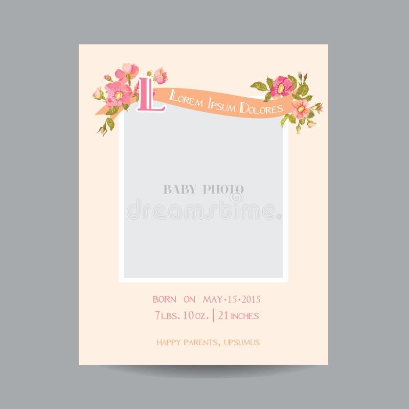 Άφιξη μωρών ή κάρτα ντους στοκ εικόνες