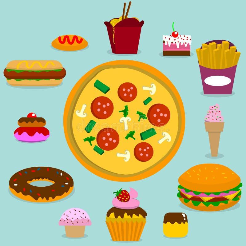 Άχρηστο φαγητό ελεύθερη απεικόνιση δικαιώματος