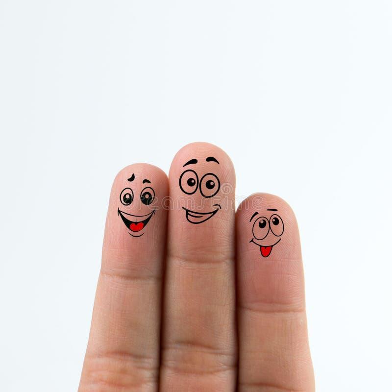 δάχτυλα ευτυχή στοκ εικόνα με δικαίωμα ελεύθερης χρήσης