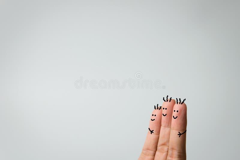δάχτυλα ευτυχή στοκ εικόνα