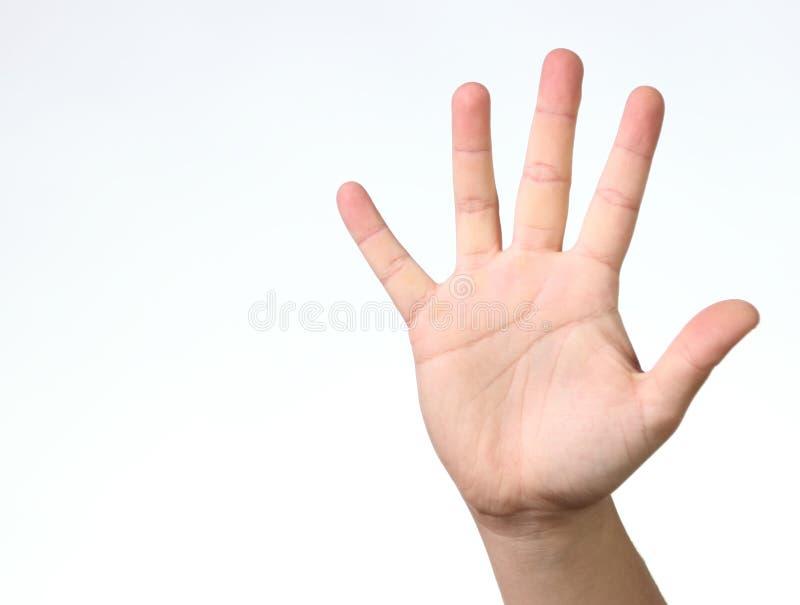 δάχτυλα πέντε στοκ φωτογραφίες με δικαίωμα ελεύθερης χρήσης