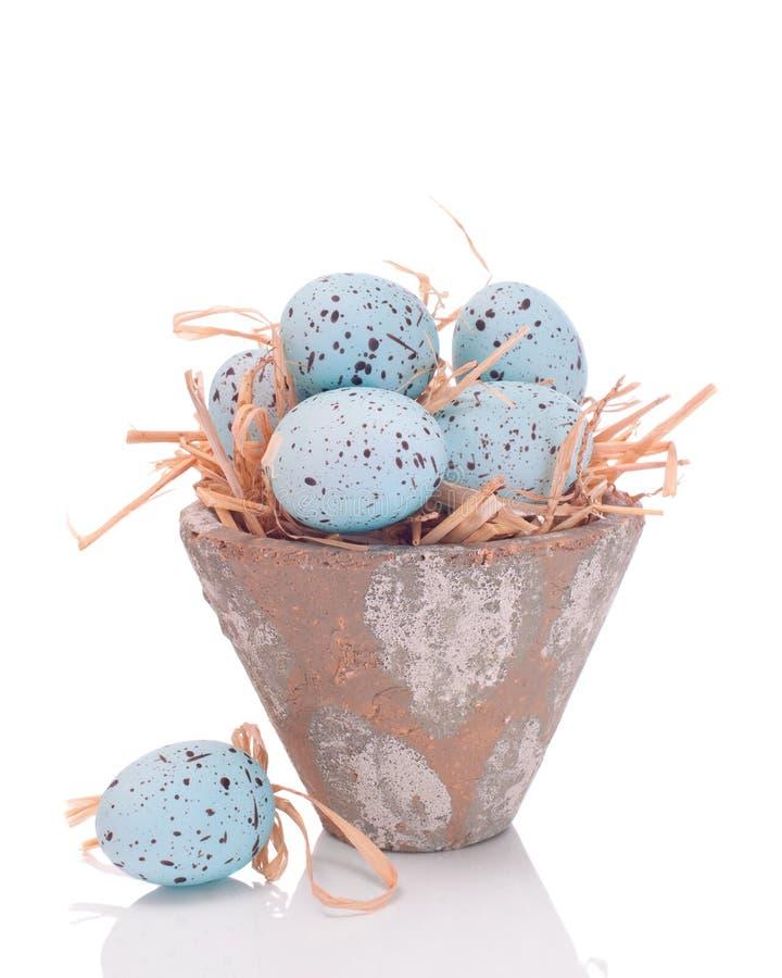 άχυρο αυγών Πάσχας στοκ εικόνα