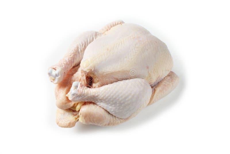 Άψητο κοτόπουλο στο άσπρο υπόβαθρο στοκ φωτογραφίες