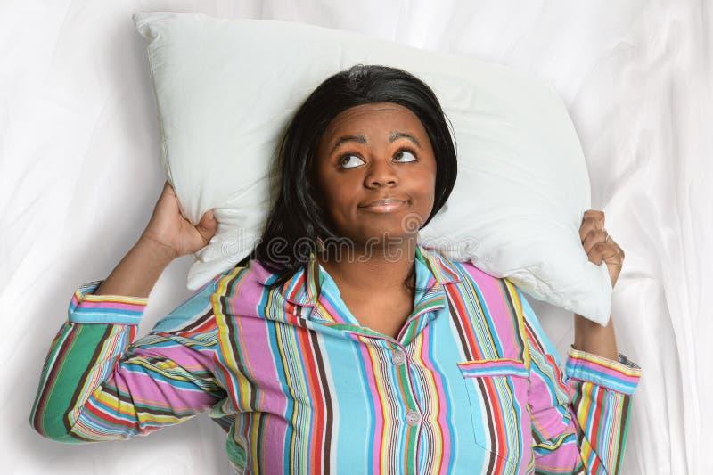 Άϋπνη γυναίκα αφροαμερικάνων στοκ φωτογραφίες με δικαίωμα ελεύθερης χρήσης