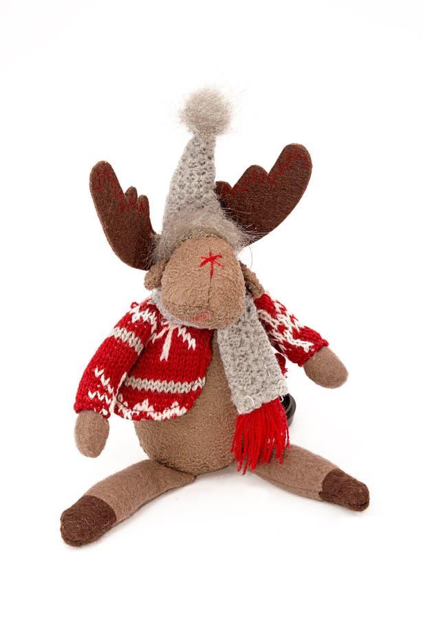 Άλκες, μαλακή κούκλα, παραδοσιακή διακόσμηση Χριστουγέννων που απομονώνεται στο whi στοκ φωτογραφία με δικαίωμα ελεύθερης χρήσης