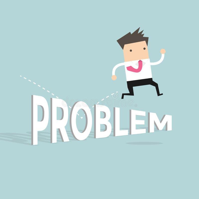 Άλμα επιχειρηματιών πέρα από το πρόβλημα διανυσματική απεικόνιση