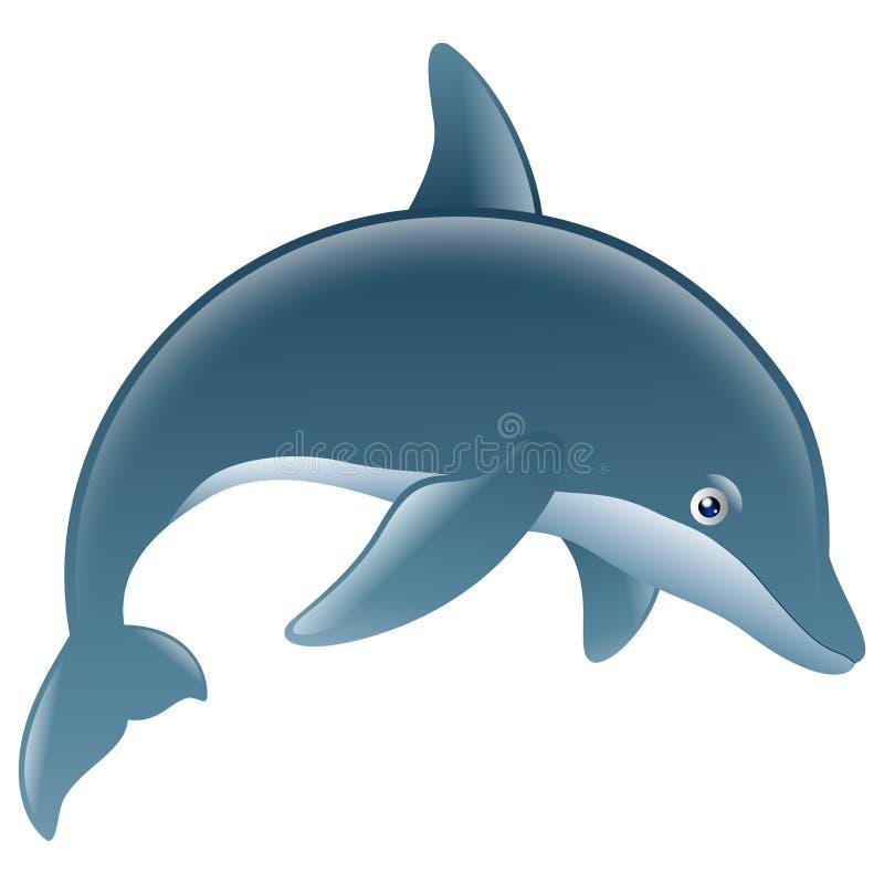 Άλμα δελφινιών κινούμενων σχεδίων απεικόνιση αποθεμάτων