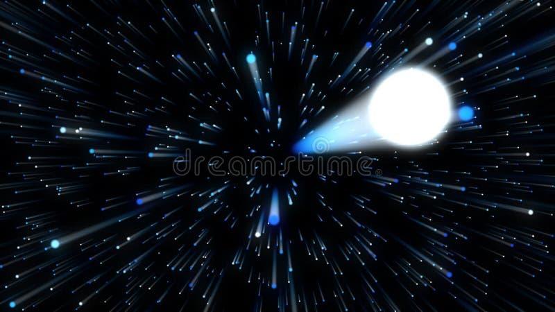 Άλμα υπερδιαστημάτων διανυσματική απεικόνιση