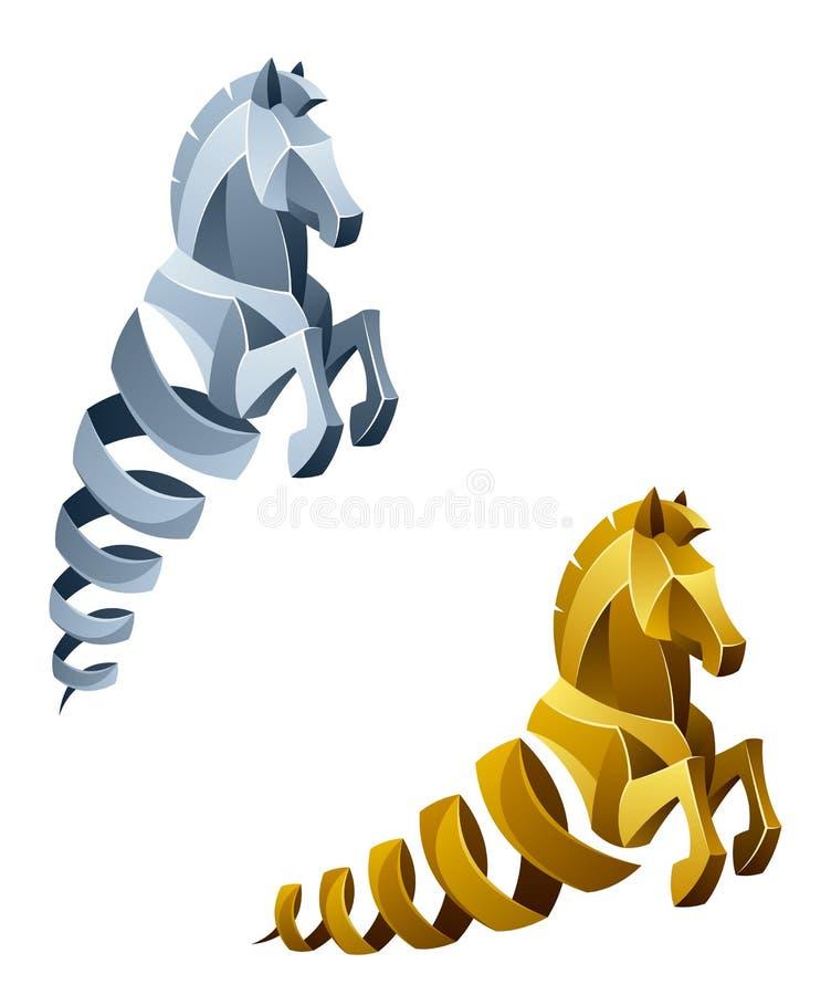 Άλογο άνοιξη διανυσματική απεικόνιση