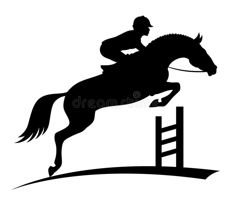 Άλογο άλματος διανυσματική απεικόνιση
