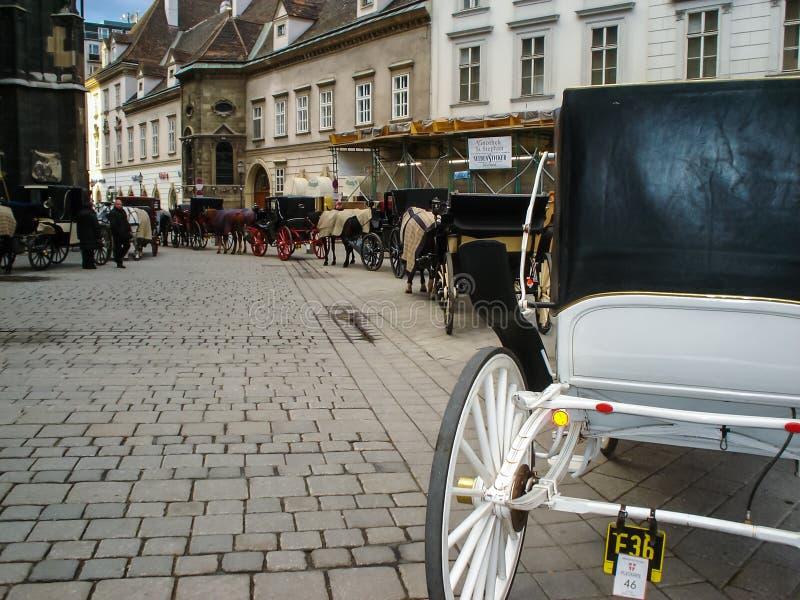 Άλογο και μεταφορές στη Βιέννη στοκ εικόνες με δικαίωμα ελεύθερης χρήσης
