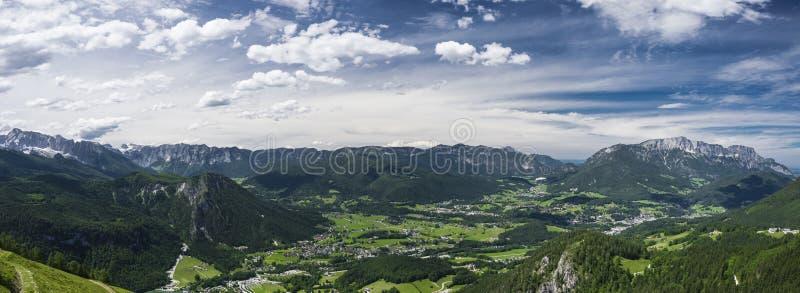 Άλπεις Berchtesgaden πανοράματος στοκ εικόνες