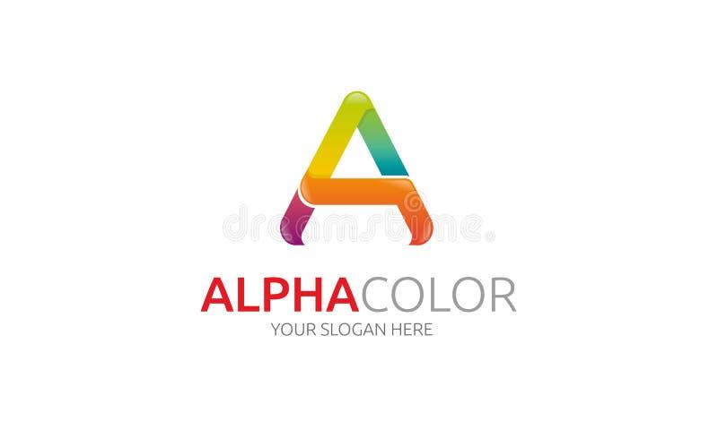 Άλφα λογότυπο απεικόνιση αποθεμάτων
