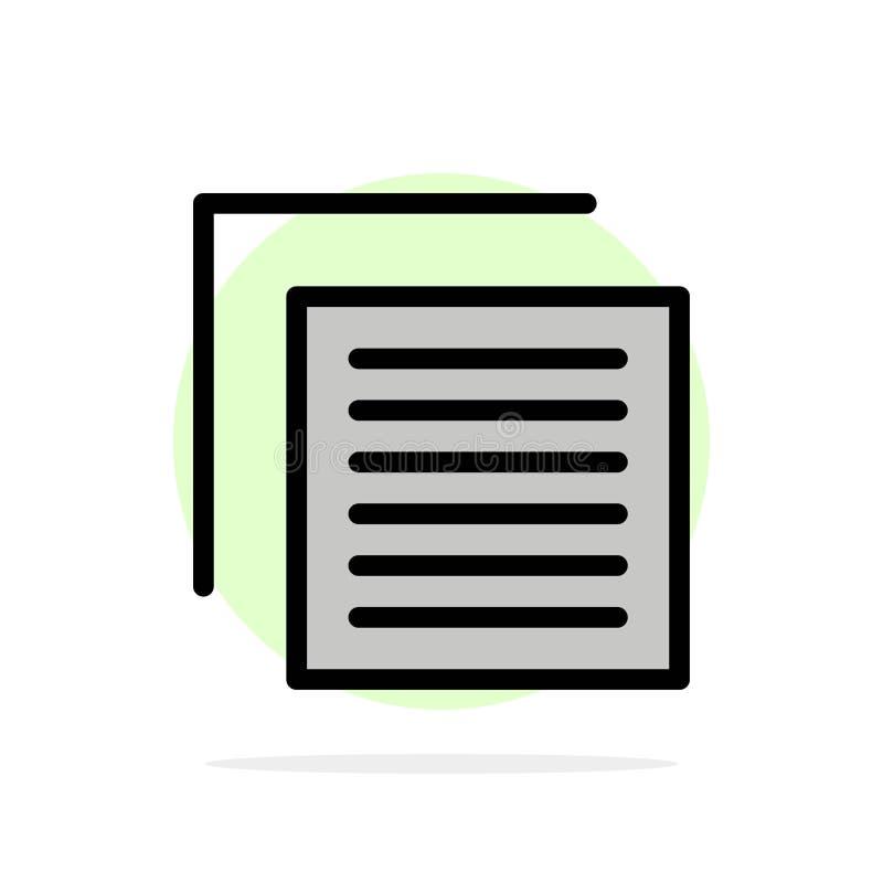 Έγγραφο, αρχείο, χρήστης, διεπαφών αφηρημένο κύκλων εικονίδιο χρώματος υποβάθρου επίπεδο ελεύθερη απεικόνιση δικαιώματος