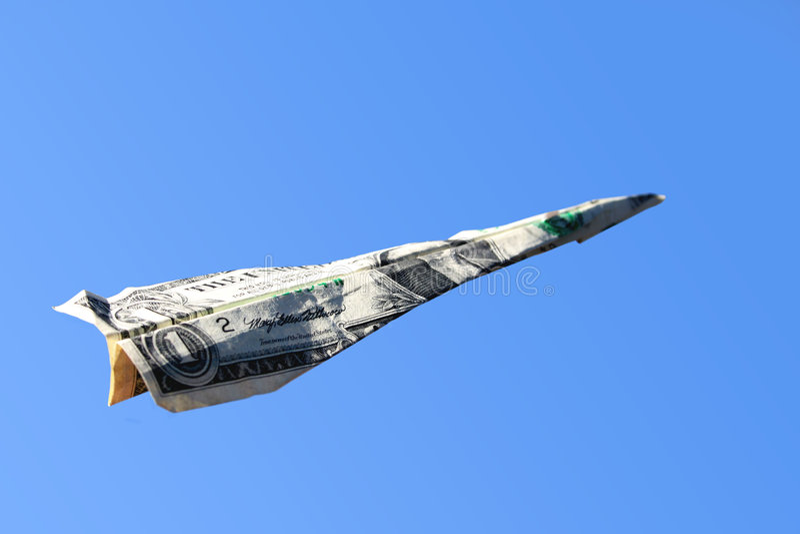 Download έγγραφο δολαρίων αεροπ&lamb Στοκ Εικόνα - εικόνα από ευρετήριο, ανάπτυξη: 379539