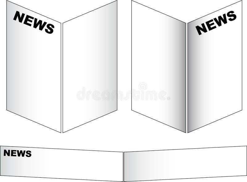 έγγραφο ειδήσεων απεικόνιση αποθεμάτων